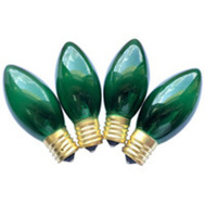 Santas Forest 19295 Replacement Bulbs C9 Trans Green 4Pk