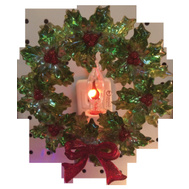 Santas Forest 19349 Night Light Wreath