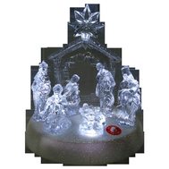 Santas Forest 21309 Nativity Led 8In