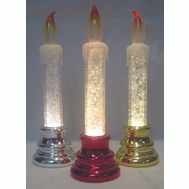 Santas Forest 21807 Candle Pdq Acryl B/O 6-3/4In