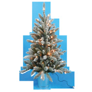 Santas Forest 27336 Clear Pre-Lit Christmas Tree In Glv Bucket 36In