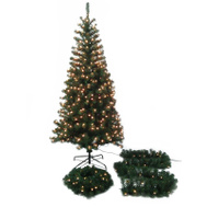 Santas Forest 27403 Tree/Wreath/Garland Prlt Asst