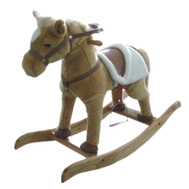 Santas Forest 27956 Horse Rocking Animated 29In