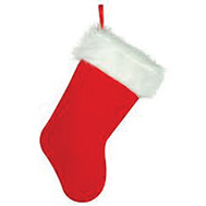 Santas Forest 28909 Stocking Value Plush 19In
