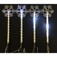 Santas Forest 29203 Snowflake Stake 18.5In Led
