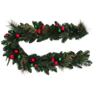 Santas Forest 38409 Wreath Decorated Red/Grn 24In