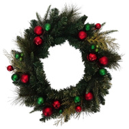 Santas Forest 38411 Decorated Garland Red/Grn 6Ft