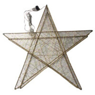 Santas Forest 48408 Star W/Micro Lgts Led 3D 24In