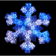 Santas Forest 57305 Snowflake Motn Blu/Wh Led 19In