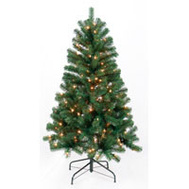 Santas Forest 61746 Pre-Lit Noble Fir Tree 4.5 Ft