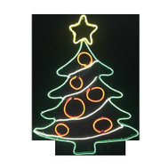 Santas Forest 62317 Xmas Tree Neon Led 35In