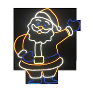 Santas Forest 62319 Santa 2D Neon Look Led 36In
