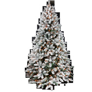Santas Forest 63776 Pre-Lit Clr Noble Fir Tree 7.5Ft