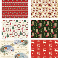 Santas Forest 68703 Giftwrap Traditional 30 X 40