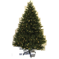 Santas Forest 72770 Pre-Lit Tree Clr 7Ft