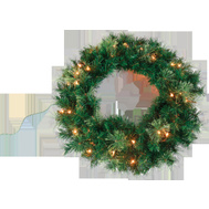 Santas Forest 81729 Ponderosa Wreath 30 In