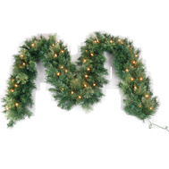 Santas Forest 81737 Pre-Lit Garland 9Ft L X 14In W
