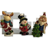 Santas Forest 89335 Resin Santa/Snowman/Moose