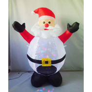 Santas Forest 90321 Inflatable Santa W/Projector 4Ft