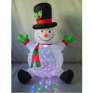 Santas Forest 90323 Inflatable Snowman W/Projector 4Ft