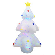 Santas Forest 90327 Inflatable Tree W/Projectr White 6Ft