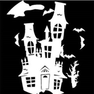 Santas Forest 90399 Projctr Haunted Hse W/Bats Led