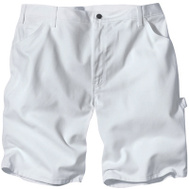 Dickies DX400WH34 34X11 WHT Paint Shorts