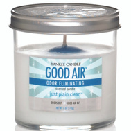 Yankee Candle 1155856 Good Air 6 Ounce Glass Tumbler Candle Clean