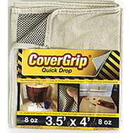 Covergrip 35408 Drop Cloth No-Slip 3.5X4ft 8 Ounce