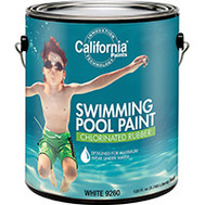 California Products 9260 White Paint Pool Chlorinated Rubber Gallon
