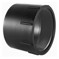 Charlotte Pipe ABS 00101  1200HA 4 Inch Abs/Dwv Black Female Adapter Hub By Female Iron Pipe