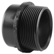 Charlotte Pipe ABS 00103  1000HA 2 Inch Abs/Dwv Black Fitting Adapter Spigot By Male Iron Pipe