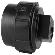 Charlotte Pipe ABS 00105X 1000HA 3 Inch Abs/Dwv Black Clean Out Adapter With Threaded Plug