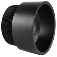 Charlotte Pipe ABS 00109  1200HA 3 Inch Abs/Dwv Black Male Adapter Hub By Male Iron Pipe