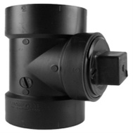 Charlotte Pipe ABS 0444X 1000HA 3 Inch Abs/Dwv Black Clean Out Tee Without Plug