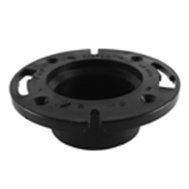Charlotte Pipe ABS 00800  0800HA 4 Inch Abs/Dwv Black Closet Flange Hub End