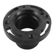 Charlotte Pipe ABS 00815 0600HA 4 By 3 Inch Abs/Dwv Black Closet Flange Hub End