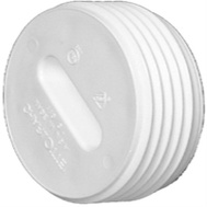 Charlotte Pipe PVC 00110  0800HA 3 Inch Toe Saver Floor Plug