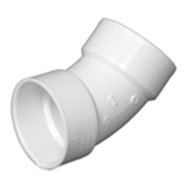 Charlotte Pipe PVC 00321  1000HA 2 Inch 45 Degree Pvc Sanitary Elbow