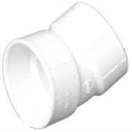 Charlotte Pipe PVC 00324  0800HA 2 Inch 22-1/2 Degree Elbow