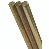 K&S Engineering 8166 3/16 By 12 Inch Solid Brass Rod