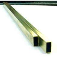 K&S Engineering 8264 1/8 By 1/4 By 12 Inch Rectangular Brass Tube