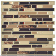 Quinco SM1034-6 Smart Tiles Keystone Bellagio Self Adhesive Wall Tiles Pack Of 6