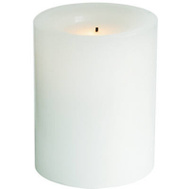 Sterno Home EXHBWT54400WH01 4 Inch White Battery Operated Round Candle