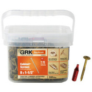 ITW GRK 100073 Screw Low Profile No8x1-1/2In 330 Pack