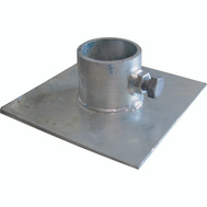 Multinautic 11107 Base Plate Galvanized 6 Inch By 6 Inch