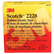 3M 50727-BA-5 Scotch Rubber Mastic Tape Professional Grade 1 Inch By 10 Foot