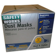 Safety Works 10059526 25 Pack Nontoxic Dust Mask