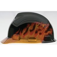 Safety Works 10124206 Hat Hard Black Fire V-Gard