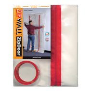 ZipWall ZDC Door Kit Comm Flm Retrdnt 4mil